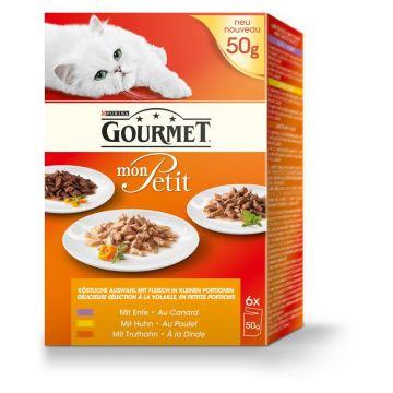 Gourmet Cat Frischebeutel Multipack Mon Petit Geflügel 6x50g (Menge: 8 je Bestelleinheit)