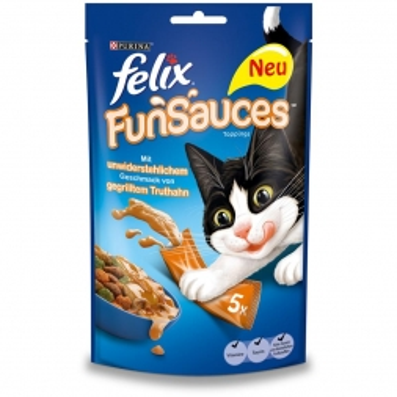 Felix Katzensnack FunSauces Truthahn 5x15g (Menge: 10 je Bestelleinheit)