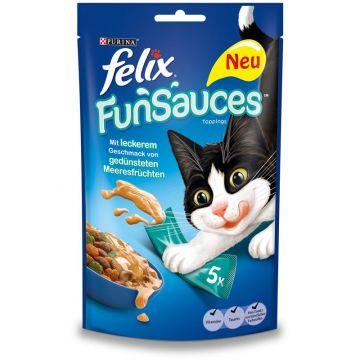Felix Katzensnack FunSauces Meeresfrüchtegeschmack 5x15g (Menge: 10 je Bestelleinheit)