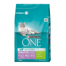 Purina ONE BIFENSIS Sensitive reich an Truthahn 1,5kg