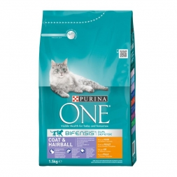 Purina ONE BIFENSIS Coat & Hairball reich an Huhn 1,5kg