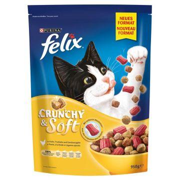 Felix Crunchy & Soft Geflügel 950g