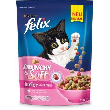 Felix Crunchy & Soft Junior Huhn & Gemüse 950g