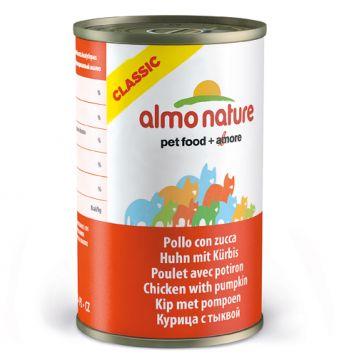 Almo Nature Classic - Huhn mit Kürbis 140g (Menge: 24 je Bestelleinheit)