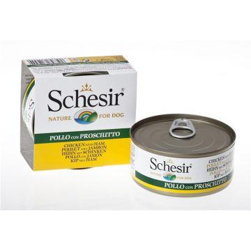 Schesir Dog Jelly Hühnerfilet und Schinken 150g (Menge: 18 je Bestelleinheit)