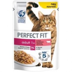 Perfect Fit Cat Portionsbeutel Adult Rind 85g (Menge: 12 je Bestelleinheit)