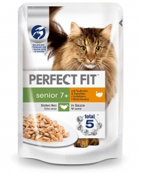 Perfect Fit Cat Portionsbeutel Senior Pute 85g (Menge: 12 je Bestelleinheit)
