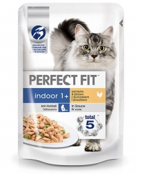Perfect Fit Cat Portionsbeutel Indoor Huhn 85g (Menge: 12 je Bestelleinheit)