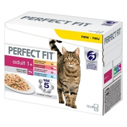 Perfect Fit Cat Portionsbeutel Adult Mix 12x85g Multipack (Menge: 4 je Bestelleinheit)