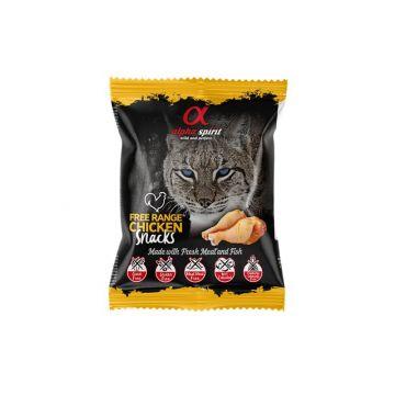 alpha spirit Katzensnack gewürfelt Huhn 50g