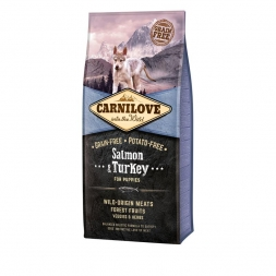 Carnilove Dog Puppy - Salmon & Turkey 12 kg