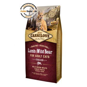 Carnilove Cat Adult - Lamb & Wild Boar 6 kg