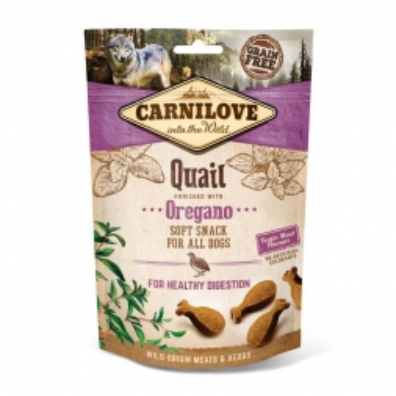 Carnilove Dog Soft Snack - Quail with Oregano 200g (Menge: 10 je Bestelleinheit)