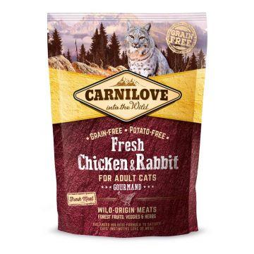 Carnilove Cat Adult - Chicken & Rabbit/Gourmand, 400 g