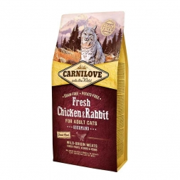Carnilove Cat Adult Fresh - Chicken & Rabbit/Gourmand 6 kg