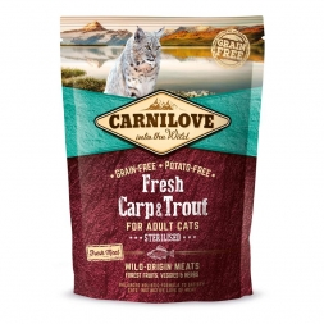 Carnilove Cat Adult Fresh -  Carp & Trout/Sterilised 400g