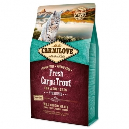 Carnilove Cat Adult Fresh -  Carp & Trout/Sterilised 6kg
