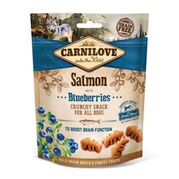Carnilove Dog Crunchy Snack - Salmon with Blueberries 200g (Menge: 6 je Bestelleinheit)