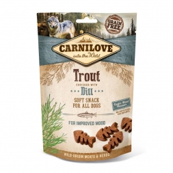 Carnilove Dog Soft Snack - Trout with Dill 200g (Menge: 10 je Bestelleinheit)
