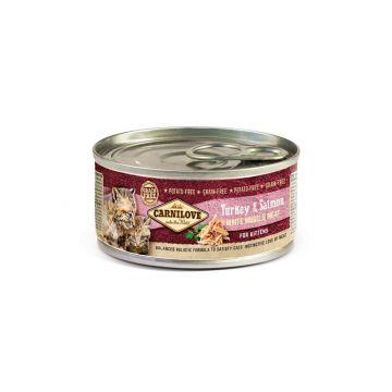 Carnilove Cat Kitten - Turkey & Salmon 100g (Menge: 12 je Bestelleinheit)