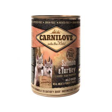 Carnilove Dog Dose- Puppy - Salmon & Turkey 400g (Menge: 6 je Bestelleinheit)