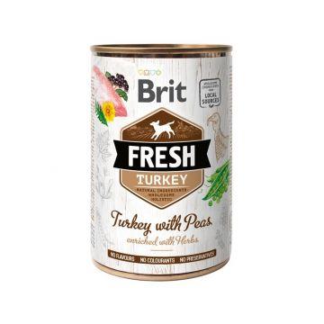 Brit Fresh - Turkey with Peas/Truthahn mit Erbsen 400g (Menge: 6 je Bestelleinheit)