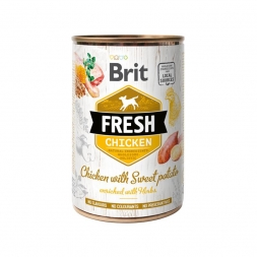 Brit Fresh - Chicken with Sweet Potato 400g (Menge: 6 je Bestelleinheit)