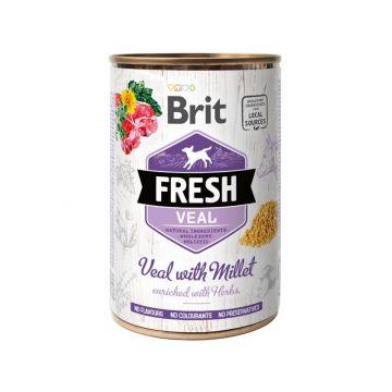 Brit Fresh - Veal with Millet/ Kalb mit Hirse 400g (Menge: 6 je Bestelleinheit)