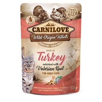 Carnilove Cat Pouch - Turkey with Valerian 85g (Menge: 24 je Bestelleinheit)