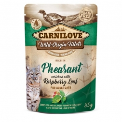 Carnilove Cat Pouch - Pheasant with Raspberry Leaves 85g (Menge: 24 je Bestelleinheit)