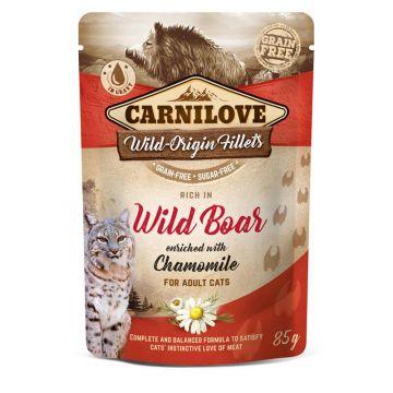 Carnilove Cat Pouch - Wild Boar with Chamomile 85g (Menge: 24 je Bestelleinheit)