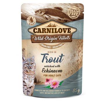 Carnilove Cat Pouch - Trout with Echinacea 85g (Menge: 24 je Bestelleinheit)