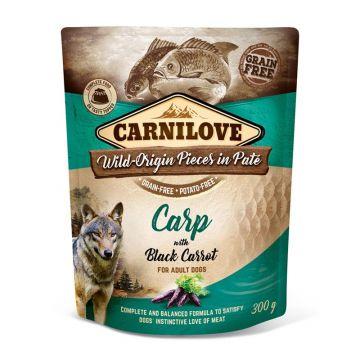 Carnilove Dog Pouch Pate Karpfen & schwarze Karotte 300g (Menge: 12 je Bestelleinheit)