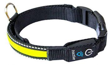 TRACTIVE LED Halsband medium yellow