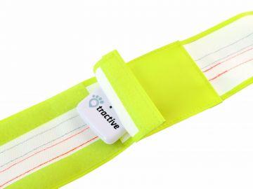 Tractive reflektierendes Halsband mit GPS-Tasche medium 40-50cm