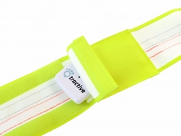 Tractive reflektierendes Halsband mit GPS-Tasche large 48-60cm
